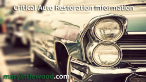 Critical Auto Restoration Information You must Know About